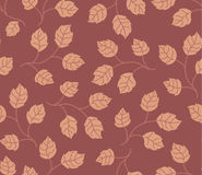Seamless pattern autumn leaves colored in modern Stock Images