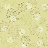 Seamless pattern with autumn leaves Stock Photos