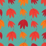 Seamless pattern with autumn leaves. Design for wallpaper, gift paper, pattern fills, web page background, autumn vector illustration