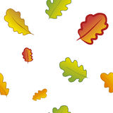 Seamless pattern with autumn leaves. Stock Photo