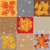 Seamless pattern of autumn leaves Vector Stock Images
