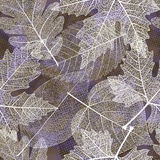 Seamless pattern with autumn leaves. Vector, EPS10. Stock Photos
