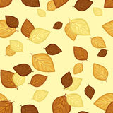 Seamless pattern with autumn leaves. Vector illust Royalty Free Stock Photography
