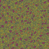Seamless pattern with autumn leaves. Stock Images