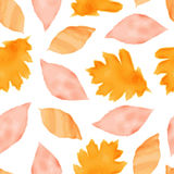 Seamless pattern with autumn leaves. Vector illustration Stock Image