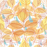 A seamless pattern with autumn leaves Stock Image