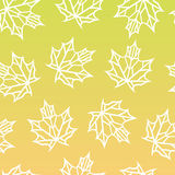 Seamless pattern of autumn leaves. Seamless pattern of leaves on a yellow background Stock Images