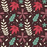 Seamless pattern, autumn leaves Royalty Free Stock Images