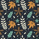 Seamless pattern, autumn leaves Royalty Free Stock Photography