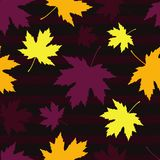 Seamless pattern with autumn maple leaves. Flat design. Textile rapport vector illustration