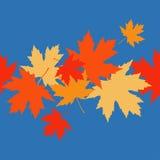 Seamless pattern with autumn maple leaves. Golden Autumn. Flat design. Textile rapport vector illustration
