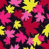 Seamless pattern with autumn maple leaves. Golden Autumn. Flat design. Textile rapport stock illustration