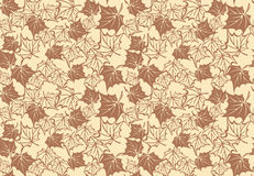 Seamless pattern with autumn maple leaves. Vector Royalty Free Stock Photography