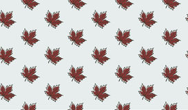 Seamless pattern with autumn maple leaves. Vector illustration. Autumn background Stock Image