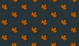 Seamless pattern with autumn maple leaves Royalty Free Stock Images