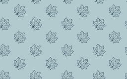 Seamless pattern with autumn maple leaves Royalty Free Stock Photography