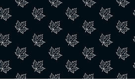 Seamless pattern with autumn maple leaves Stock Photos