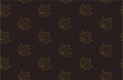 Seamless pattern with autumn maple leaves Royalty Free Stock Photos