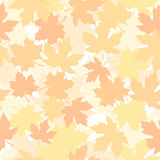 Seamless pattern with autumn maple leaves. Vector illustration. Royalty Free Stock Photos
