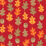 Seamless pattern with autumn oak leafs and acorns Stock Photos