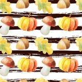 Seamless pattern with autumn plants Stock Photo