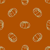 Seamless pattern of autumn pumpkins. Harvest of Stock Photo