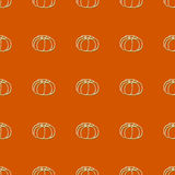 Seamless pattern of autumn pumpkins. Harvest of Royalty Free Stock Image