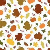 Seamless pattern of autumn symbols Royalty Free Stock Photography