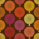 Seamless pattern of autumn trees Stock Images
