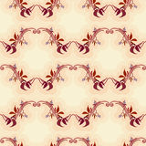 Seamless pattern with autumn wild grape in beige background Stock Photography
