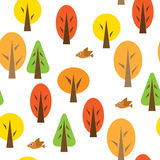 Seamless pattern with autumnal forest Stock Photo