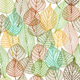 Seamless pattern of autumnal leaves Stock Photography