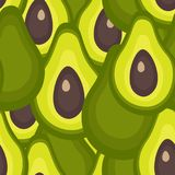 Seamless pattern with avocado royalty free illustration