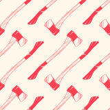Seamless pattern with axes vintage style, vector illustration for backgrounds Stock Photography