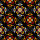 Seamless pattern aztec beading embroidery. Vector background for textile, fabrics, clothing. tribal national ornament Stock Photography