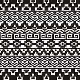 Seamless pattern with aztec ornaments Stock Image