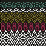 Seamless pattern in aztec style Stock Photography