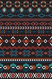 Seamless pattern in aztec style Stock Photo
