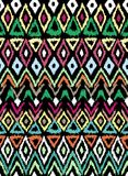 Seamless pattern in aztec style Stock Images