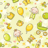 Seamless pattern with babies Stock Images