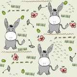 Seamless pattern. Babies hand draw seamless pattern with burros Stock Photo