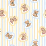 Seamless pattern for baby background with bears stock image