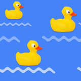 Seamless pattern baby bath toy rubber duck Stock Photography