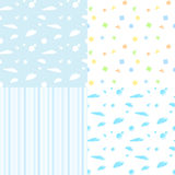 Seamless pattern for baby boys Royalty Free Stock Photo