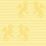 Baby dragon seamless pattern Stock Photography