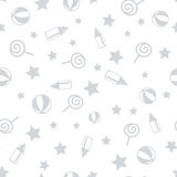 Seamless Pattern with Baby Elements. Vector illustration Royalty Free Stock Image