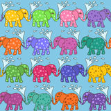 Seamless pattern of baby elephants Stock Image