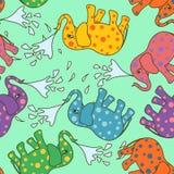 Seamless pattern of baby elephants Royalty Free Stock Image