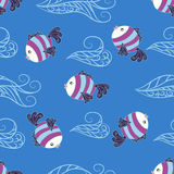 Seamless pattern with baby fish. Stock Photography