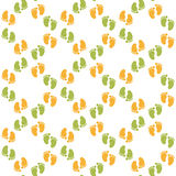 Seamless pattern with baby footprint Stock Photography